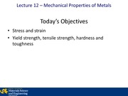 Lecture 12B - Mechanical Properties of Metals