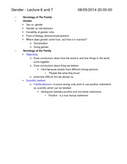 Soc 120-Notes-Gender
