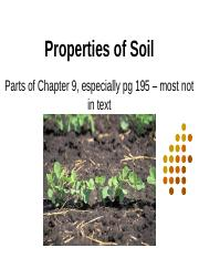 Chap 9 - Properties of Soils (2)