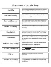 Vocabulary Economic words and definitions.docx