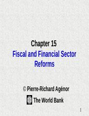 fiscal and financial sector reforms