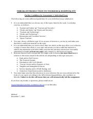 Additional Guidelines for Individual Essay.docx