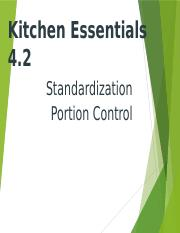 4.2  Standardization and Portion Control 2012 Version.pptx