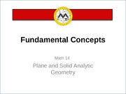 L1 Analytic Geometry