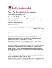 [Web] Rule 3 For Great English Conversation