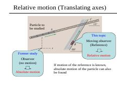 chapter 2_3 Relative motion (Translating axes)