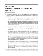 Solutions-  Chapter 8  Making Capital Investment Decisions