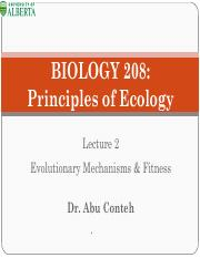 BIOL 208 - Winter 2016   Lecture 2 - Evolutionary Mechanisms and Fitness- Dr. Abu Conteh.pdf