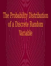 9. The Probability Distribution of a Discrete Random Variable - Online