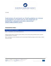 efpia_comments_on_draft_guideline_on_clinical_investigation_of_medicines_for_the_treatment_of_alzhei