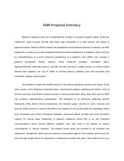 EHR Proposal Summary
