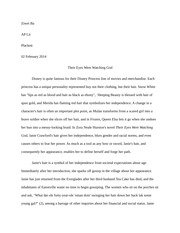 their eyes were watching god essay rough draft ziwei ba ap lit  their eyes were watching god essay rough draft ziwei ba ap lit plackett 02 2014 their eyes were watching god disney is quite famous for their