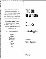 Ethics The Big Questions