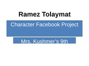 Character Facebook Project(2)