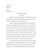 michelangelo creative research paper