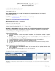 OPMA 5364 and INSY 5373 Syllabus Spring 2014(1)