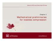 chapter 2 Mathematical preliminaries for Source coding and data compression