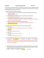 CHEM 1073 Practice Exam 1 with explanations -2