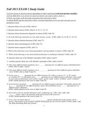 Fall 2013 Exam1 Study guide