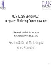 Session 8 - _PPT_ Direct Marketing _ Sales Promotion _Ch 6 _ 8_