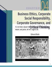 Chap 4 PPT (1) pptx - C H A P T E R 04 Business Ethics Corporate