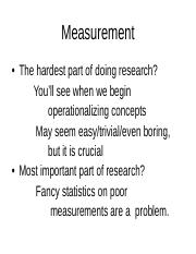 Lecture 2 Measurement