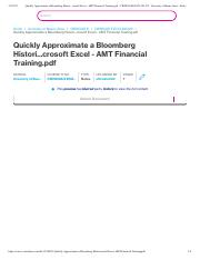 Quickly Approximate a Bloomberg Histori...crosoft Excel - AMT Financial Training.pdf