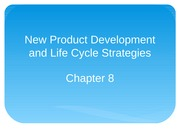 Chapter 8 New Product