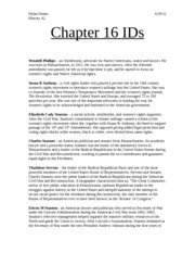 Chapter 16 IDs