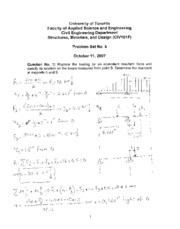 Solutions to Problem Set no 5