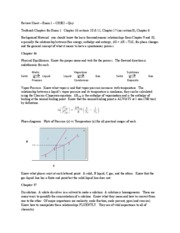 302 Exam 1 Review Sheet