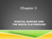 Study Guide on Digital Gaming and the Media Playground