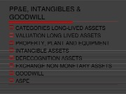 Chapter 9 - PP&E, Intangibles, goodwill