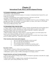 Econ-2125-Midterm-Chapter-12 International Trade Theory and Development Strategy