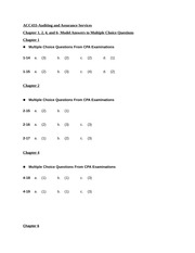 ACC433-Model answers to MCQ-Chapters 1-2-4 and 6