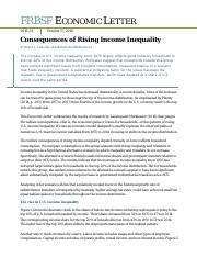Consequences of Rising Income Inequality
