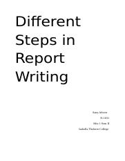 Different Steps In Writing Report final