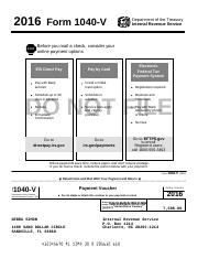 DEBRA SIMON 2016 Tax Return - 2016 Form 1040-V Department of the ...