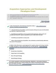 Acquisition Approaches and Development Paradigms Exam ISA101 Test 6 Part II.pdf