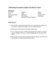 Chapter One Review Sheet