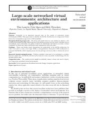 Large-scale networked virtual environments