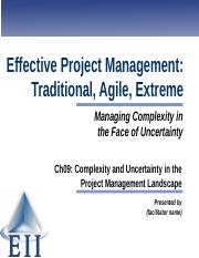 EPM7e Slides Ch09 Complexity and Uncertainty in the Project Management Landscape