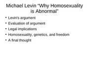 11.16.07 Levin why Homosexuality is abnormal