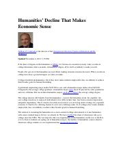 2.Humanities' Decline That Makes Economic Sense-1.docx