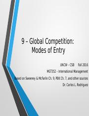 S&M 9 – Global Competition-Modes of Entry.pptx