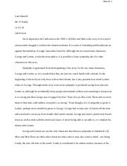Of Mice and Men essay