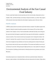 Environmental Analysis of the Fast Casual Food Industry.docx