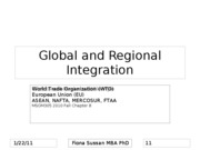 Global and Regional Integration Chapter 8