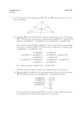Math 300 Assignment #4 Solutions