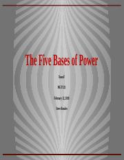 Team F Week 4 Five Bases of Power.pptx